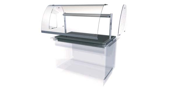 Designline Drop In Display Option - Full height Front Glass. End Glass