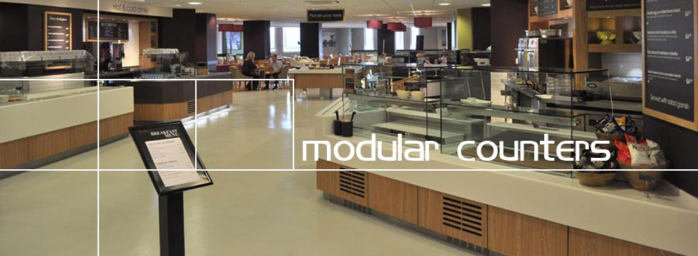 Modular Food Display Servery Counter Chilled Section, High Street Environment